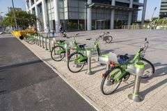Станция велосипеда телефона-Ofan арендная стоковая фотография rf