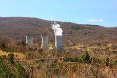 Станция геотермальной энергии в Lardarello Стоковое Изображение