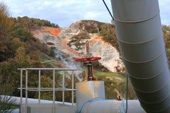 Станция геотермальной энергии в Monterotondo Стоковые Изображения