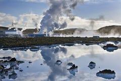 Станция геотермальной энергии Svartsengi - Исландия Стоковое Изображение