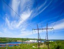 станция гидроэлектрической энергии Стоковая Фотография
