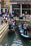 Станция гондолы в Венеции - Италии Стоковое Изображение