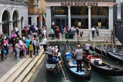 Станция гондолы в Венеции - Италии Стоковая Фотография