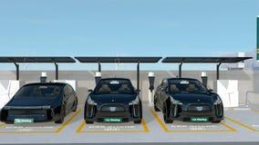 Станция делить автомобиля на угле улицы бесплатная иллюстрация