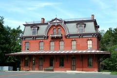 станция железной дороги Джерси hopewell новая старая стоковое фото