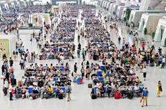 Станция железнодорожного вокзала Ханчжоу восточная Стоковые Изображения RF