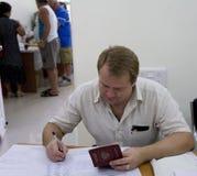 станция избрания ballot prezident русская Стоковое Изображение