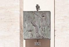 Станция x: Иисус обнажан его одежд Стоковые Изображения RF