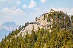 Станция космических лучей горы серы историческая в Banff национальном p Стоковое Изображение RF