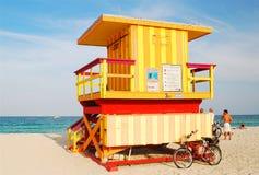 Станция личной охраны, южный пляж стоковое изображение rf