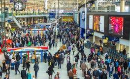 Станция Лондона Ватерлоо, Лондон Англия, 11-ое мая 2017 стоковые изображения