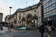 Станция Лондона Ватерлоо улицы города стоковая фотография