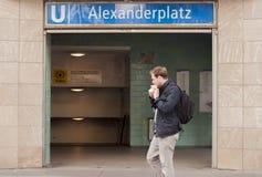 Станция метро Берлина Alexanderplatz Стоковые Фотографии RF
