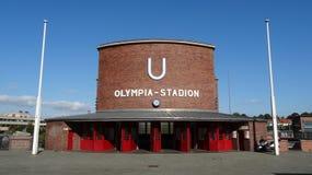 Станция метро Берлина Olympic Stadium Стоковая Фотография