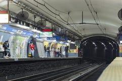 Станция метро, Буэнос-Айрес, Аргентина стоковые изображения rf