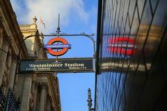 Станция метро Вестминстера Стоковая Фотография RF