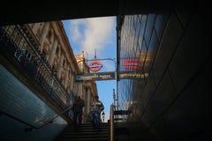 Станция метро Вестминстера Стоковая Фотография