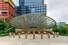 Станция метро дворов Гудзона - NYC стоковая фотография rf