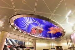 Станция метро дворов Гудзона - NYC стоковое изображение