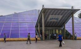 Станция метро, вход стоковые фотографии rf
