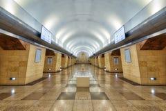 Станция метро в Алма-Ата, принятый Казахстан, в августе 2018 принятый стоковые фотографии rf