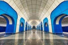 Станция метро в Алма-Ата, принятый Казахстан, в августе 2018 принятый стоковое изображение rf