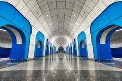 Станция метро в Алма-Ата, принятый Казахстан, в августе 2018 принятый стоковая фотография