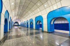 Станция метро в Алма-Ата, принятый Казахстан, в августе 2018 принятый стоковая фотография rf