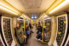 Станция метро в Берлине, Германии Стоковые Фото