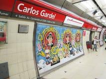 Станция метро в Буэносе-Айрес Стоковое Фото