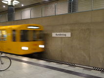 Станция метро Германского Бундестага Стоковые Фотографии RF