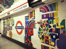 Станция метро Лондона Стоковое Фото