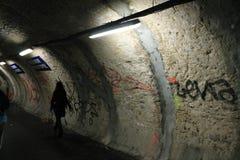 Станция метро метро Парижа под конструкцией стоковые фотографии rf