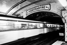 Станция метро Парижа стоковые изображения