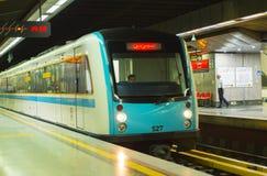 Станция метро поезда Тегеран, Иран Стоковые Изображения
