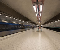 Станция метро Стокгольм Швеция 08 11 2015 Стоковое фото RF