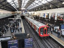 Станция метро суда Earl's, Лондон Стоковое фото RF