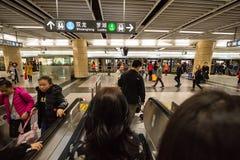 Станция метро транспортной системы метро Шэньчжэня стоковое изображение rf