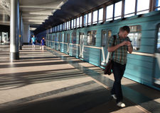 Станция метро холмов воробья, Москва Стоковое фото RF