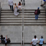 Станция метро людей Стоковое Изображение