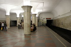 Станция метро Стоковая Фотография