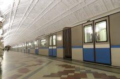 Станция метро Belorusskaya (линия Koltsevaya) в Москве, России Оно было раскрыто в 30 01 1952 Стоковая Фотография RF