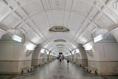 Станция метро Belorusskaya (линия Koltsevaya) в Москве, России Оно было раскрыто в 30 01 1952 Стоковое фото RF