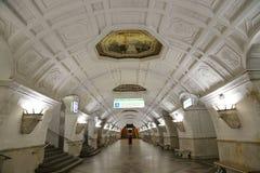 Станция метро Belorusskaya (линия Koltsevaya) в Москве, России Оно было раскрыто в 30 01 1952 Стоковое Изображение