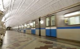 Станция метро Belorusskaya (линия Koltsevaya) в Москве, России Оно было раскрыто в 30 01 1952 Стоковое Фото