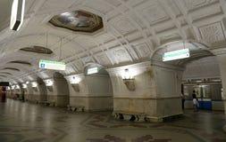 Станция метро Belorusskaya (линия Koltsevaya) в Москве, России Оно было раскрыто в 30 01 1952 Стоковые Изображения RF