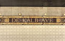 Станция метро DeKalb, Нью-Йорк Стоковое Изображение