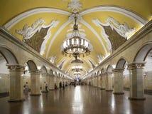 Станция метро Komsomolskaya(линия Koltsevaya) в Москве, России Стоковое фото RF