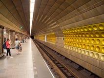 Станция метро Mustek в Праге, чехии стоковое фото rf