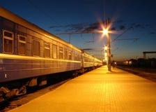 станция ночи Стоковые Фотографии RF